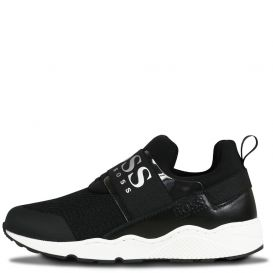 Black Logo Trainers