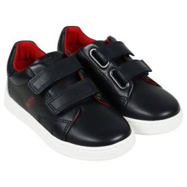 Leather Trainers Navy
