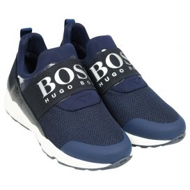 Logo Strap Trainers Navy