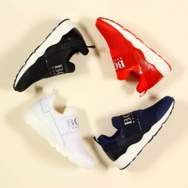 White Logo Trainers