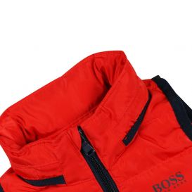 Young Boys Puffer Gilet Red