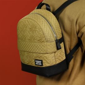 Nico Quilted Backpack Beige