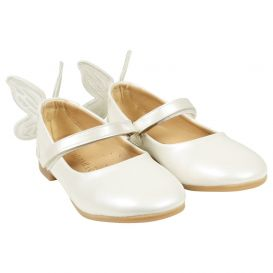 3d Butterfly Shoes Ivory