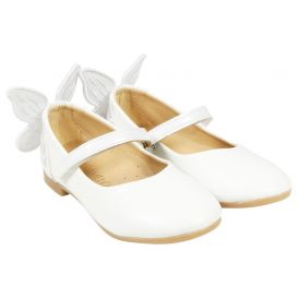 3d Butterfly Shoes White