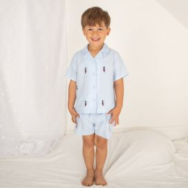 Queens Guards Embroidered Pyjamas Blue