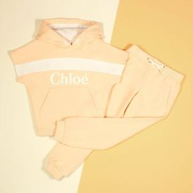Girls Hoody With Ivory Details Pink
