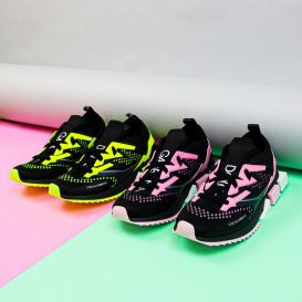 Black & Pink Trainers
