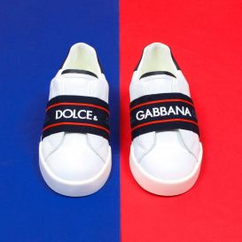 Leather Logo Trainers White