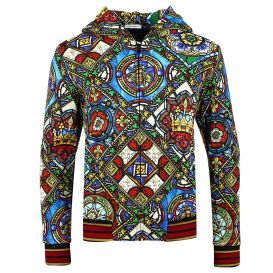 Multicoloured Zip Up Hoodie