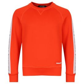Logo Tape Sweatshirt Orange
