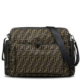 FF Repeat Logo Changing Bag Brown