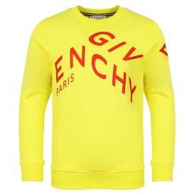 Angled Logo Sweatshirt Yellow