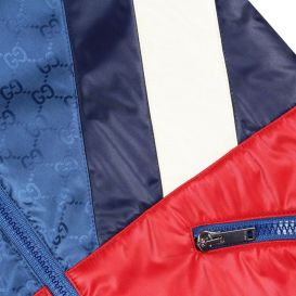 Bomber Jacket Red & Blue