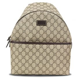 GG Canvas Backpack Beige