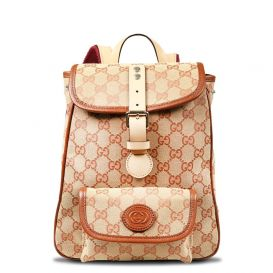 GG Pattern Backpack Beige & Red