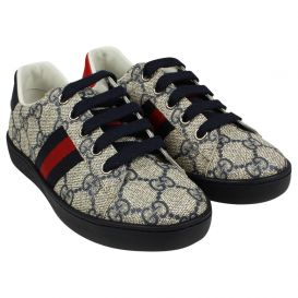 Navy GG Tape Trainers