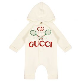 Gucci Tennis Logo All In One Ivory