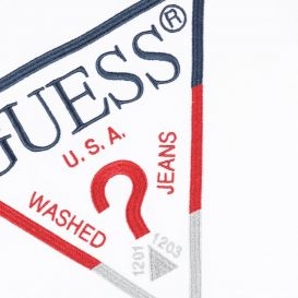 Guess Embroidered Logo T Shirt White