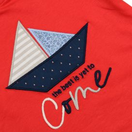 Long Sleeved Boat T Shirt Red