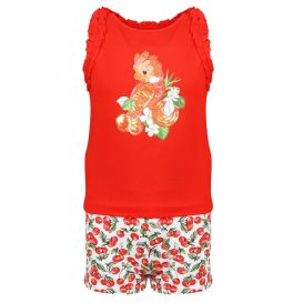 Parrot Shorts Set Red