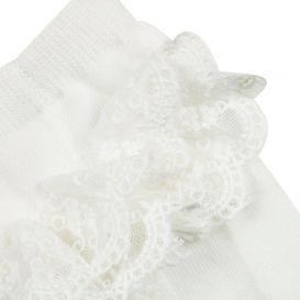 Ruffle Tights Off White