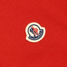 Short Sleeve T Shirt Small Logo Patch Red