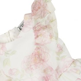 Floral Tulle Dress White