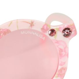 Round Floral Sunglasses Pink