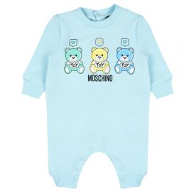 Moschino Baby Boy Notification Romper Blue