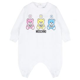 Moschino Baby Notification Romper White