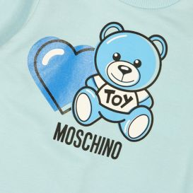 Moschino Teddy Heart Romper Blue