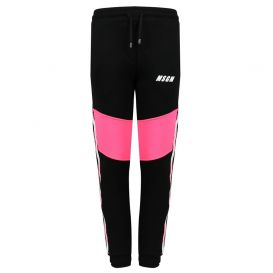 Block Jogging Bottoms Black & Pink