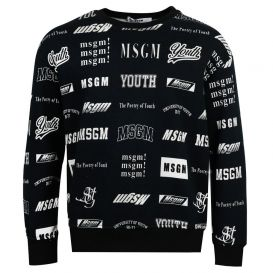 Multi Logo Sweatshirt Black