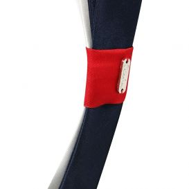 Flat Bow Hairband Navy, Red & White