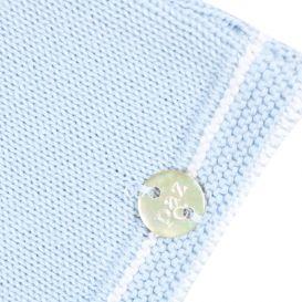 Dot Knitted 2 Piece Set Pale Blue
