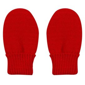 Trixie Knitted Mittens Red