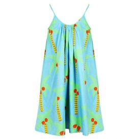 Blue Palm Tree Dress