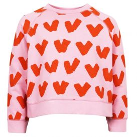 Hearts Sweatshirt Pink