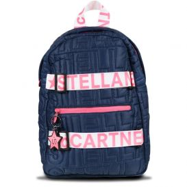 Quilted Backpack Navy