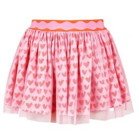 Tulle Heart Skirt Pink